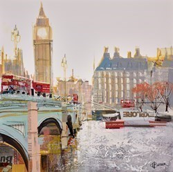 Westminster Bridge Study IV by Tom Butler -  sized 17x17 inches. Available from Whitewall Galleries